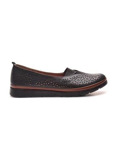 Bulldozer 211504 Kadın Deri Ayakkabı Siyah